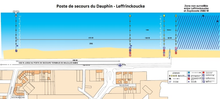 poste de secours dauphin leffrinckoucke - dunkerque securite plage