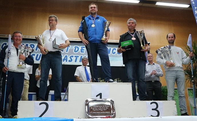 podium general championnat de france surfcasting 2017