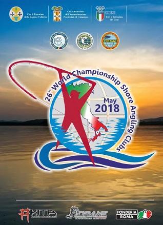 affiche championnat du monde des clubs surfcasting 2018 Italie
